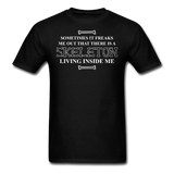 """Skeleton Inside Me"" - Men's T-Shirt black / S - LabRatGifts - 1"