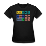 """Lady Gaga Periodic Table"" - Women's T-Shirt black / S - LabRatGifts - 1"