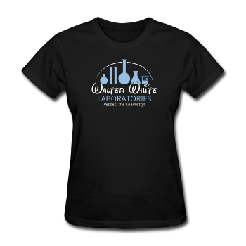 """Walter White Laboratories"" - Women's T-Shirt black / S - LabRatGifts - 1"