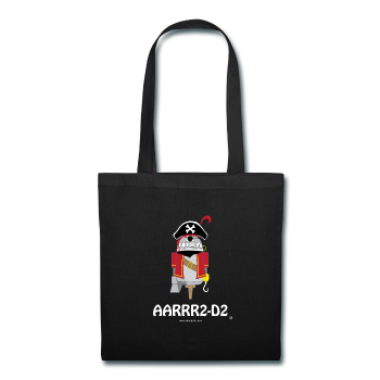 """AARRR2-D2"" - Tote Bag black / One size - LabRatGifts - 1"