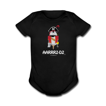 """AARRR2-D2"" - Baby Short Sleeve One Piece black / Newborn - LabRatGifts - 1"
