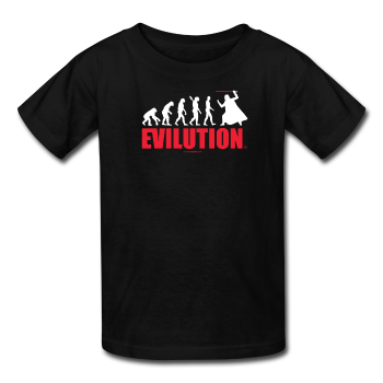 """Evilution"" - Kids T-Shirt black / XS - LabRatGifts - 1"