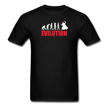 """Evilution"" - Men's T-Shirt black / S - LabRatGifts - 1"