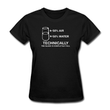 """Technically the Glass is Completely Full"" - Women's T-Shirt black / S - LabRatGifts - 2"