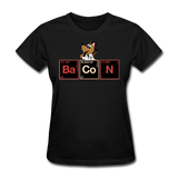 """Bacon Periodic Table"" - Women's T-Shirt black / S - LabRatGifts - 12"