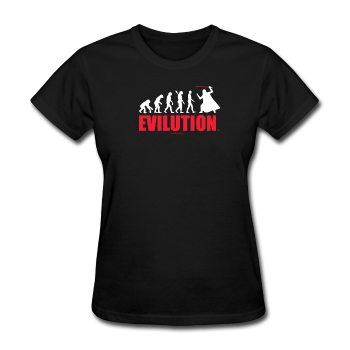 """Evilution"" - Women's T-Shirt black / S - LabRatGifts - 1"