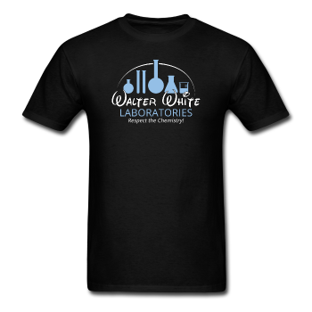 """Walter White Laboratories"" - Men's T-Shirt black / S - LabRatGifts - 1"