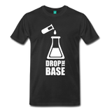 """Drop the Base"" (white) - Men's T-Shirt black / S - LabRatGifts - 8"