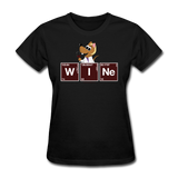 """Wine Periodic Table"" - Women's T-Shirt black / S - LabRatGifts - 10"
