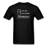 """Technically the Glass is Full"" - Men's T-Shirt black / S - LabRatGifts - 11"