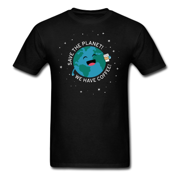 """Save the Planet"" - Men's T-Shirt black / S - LabRatGifts - 1"