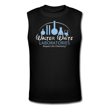 """Walter White Laboratories"" - Men's Muscle T-Shirt black / S - LabRatGifts - 1"