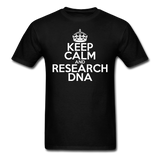 """Keep Calm and Research DNA"" (white) - Men's T-Shirt black / S - LabRatGifts - 11"