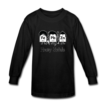 """Heavy Metals"" - Kids' Long Sleeve T-Shirt black / XS - LabRatGifts - 1"