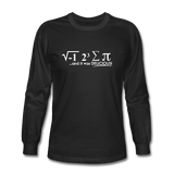 """I Ate Some Pie"" (white) - Men's Long Sleeve T-Shirt black / S - LabRatGifts - 1"