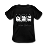 """Heavy Metals"" - Baby Lap Shoulder T-Shirt black / Newborn - LabRatGifts - 3"