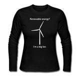 """I'm a Big Fan"" - Women's Long Sleeve T-Shirt black / S - LabRatGifts - 3"