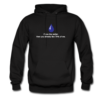 """If You Like Water"" - Men's Sweatshirt black / S - LabRatGifts - 1"