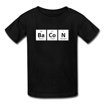 """BaCoN"" - Kids' T-Shirt black / XS - LabRatGifts - 1"