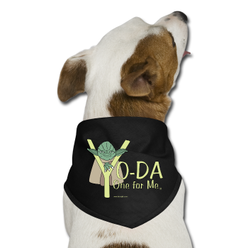 """YoDa One For Me"" - Dog Bandana black / One size - LabRatGifts - 1"