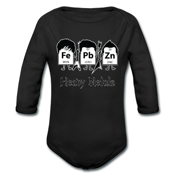 """Heavy Metals"" - Baby Long Sleeve One Piece black / 6 months - LabRatGifts - 1"
