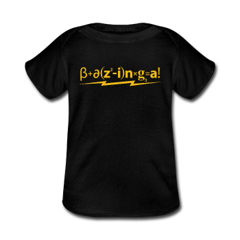 """Bazinga!"" - Baby Lap Shoulder T-Shirt black / Newborn - LabRatGifts - 1"