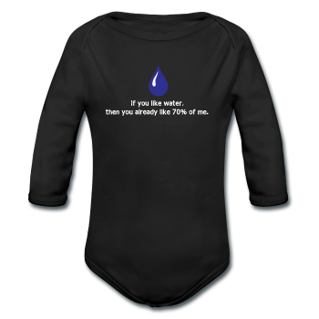 """If You Like Water"" - Baby Long Sleeve One Piece black / 6 months - LabRatGifts"
