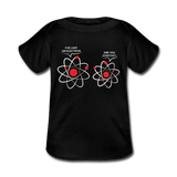 """I've Lost an Electron"" - Baby Lap Shoulder T-Shirt black / Newborn - LabRatGifts - 1"