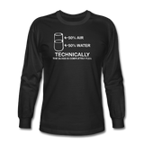 """Technically the Glass is Full"" - Men's Long Sleeve T-Shirt black / S - LabRatGifts - 2"