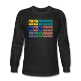 """Lady Gaga Periodic Table"" - Men's Long Sleeve T-Shirt black / S - LabRatGifts - 1"
