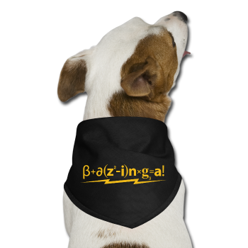 """B+azing=a!"" - Dog Bandana black / One size - LabRatGifts - 2"