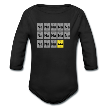 """Na Na Na Batmanium"" - Baby Long Sleeve One Piece black / 6 months - LabRatGifts - 1"
