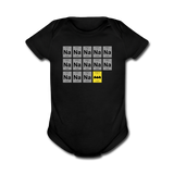 """Na Na Na Batmanium"" - Baby Short Sleeve One Piece black / Newborn - LabRatGifts - 1"