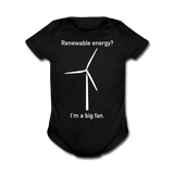 """I'm a Big Fan"" - Baby Short Sleeve One Piece black / Newborn - LabRatGifts - 4"