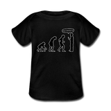 """Stop Following Me"" - Baby Lap Shoulder T-Shirt black / Newborn - LabRatGifts - 5"