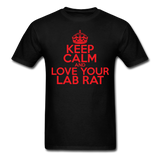 """Keep Calm and Love Your Lab Rat"" (red) - Men's T-Shirt black / S - LabRatGifts - 13"