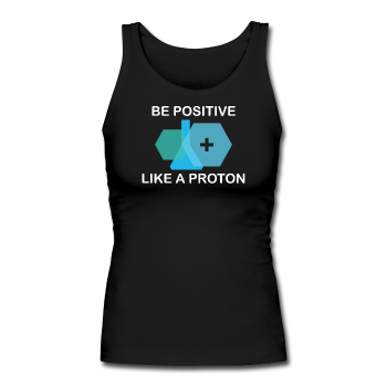 """Be Positive"" (white) - Women's Tank Top black / S - LabRatGifts - 1"