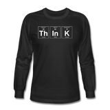 """ThInK"" (white) - Men's Long Sleeve T-Shirt black / S - LabRatGifts - 1"