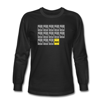 """Na Na Na Batmanium"" - Men's Long Sleeve T-Shirt black / S - LabRatGifts - 1"