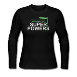 """Forget Lab Safety"" - Women's Long Sleeve T-Shirt black / S - LabRatGifts - 3"