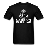 """Keep Calm and Carry On in the Lab"" (white) - Men's T-Shirt black / S - LabRatGifts - 11"
