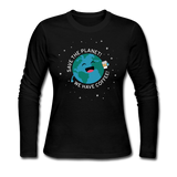 """Save the Planet"" - Women's Long Sleeve T-Shirt black / S - LabRatGifts - 2"