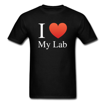 """I ♥ My Lab"" (white) - Men's T-Shirt black / S - LabRatGifts - 1"