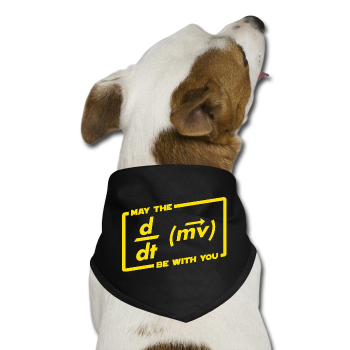 """May the Force be with You"" - Dog Bandana black / One size - LabRatGifts - 1"