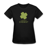 """Lucky Chemist"" - Women's T-Shirt black / S - LabRatGifts - 9"