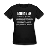 """Engineer"" (white) - Women's T-Shirt black / S - LabRatGifts - 1"