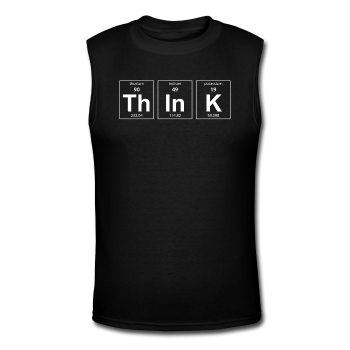 """ThInK"" (white) - Men's Muscle T-Shirt black / S - LabRatGifts - 1"