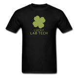 """Lucky Lab Tech"" - Men's T-Shirt black / S - LabRatGifts - 12"