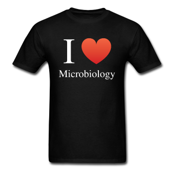 """I ♥ Microbiology"" (white) - Men's T-Shirt black / S - LabRatGifts - 1"
