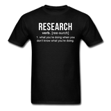 """Research"" (white) - Men's T-Shirt black / S - LabRatGifts - 1"